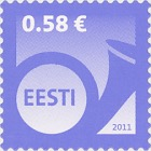 Definitive Stamp 0.58 € - Purple