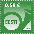 Definitive Stamp 0.58 € - Green