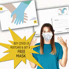 Buy COVID-19 Postcard & get a FREE mask