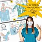 Buy COVID-19 Miniature Sheet & FDC & get FREE mask