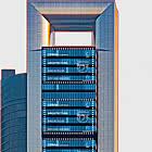 Amerika UPAEP. Architektur - Wolkenkratzer Skyline Madrid
