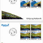 Kirkja and Hattarvik - FDC Block of 4
