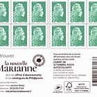 Marianne 2018 - Green Letter 12 Stamps (Pack of 10 Booklets)