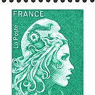 Marianne 2018 - Green Letter (Single Stamp)