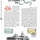 Joint Issue France - Egypt - Suez Canal 150th Anniversary (Philatelic Document)