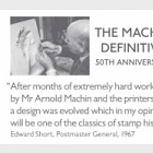 The Machin Definitive 50th Anniversary Stamp Book