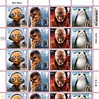 PRE ORDER Star Wars: The Last Jedi - Stamp Sheet - Aliens (Full Sheet of 24)