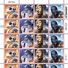 PRE ORDER Star Wars: The Last Jedi - Stamp Sheet - Droids (Full Sheet of 24)