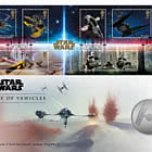 Star Wars III - Vehicles Medal Cover