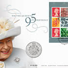 HM The Queen 95th Birthday Coin Cover