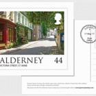 Alderney Scenes- FDI 44p postcard (GY)