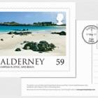 Alderney Scenes- FDI 59p postcard (UK)