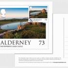 Alderney Scenes- Maxi 73p postcard (EUR)