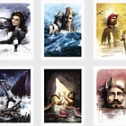 Victor Hugo: The Toilers of the Sea (Set of 6 A5 prints)