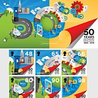 50th Anniversary - Postal Independence - PP Set