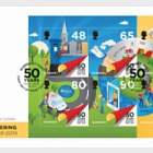 50th Anniversary - Postal Independence - FDC S/S