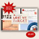 WW1 PRESTIGE BOOKLET SET优惠50%! 原价£77.48现在售£38.74!- 根西黑色星期五优惠