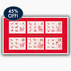 45% DISCOUNT - Chinese New Year imperforate Sheet 2014-2019 NOW £22! - BLACK FRIDAY OFFER