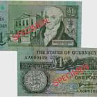 1 英镑 B.Haines 签名根西岛银行票据(AA 前缀)