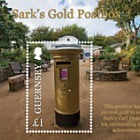 Sark's Gold Postbox