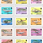 1982 Definitive Planes (15v) (catalogue price)