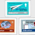 50th Ann of Gibraltar Airmail - 1981 (catalogue price)