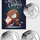 Gibraltar Festive Santa 50p Coin - 2017 Cupro Nickel Diamond Finish