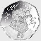 50p Christmas Coin Gibraltar 2017