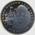 Silver Henry Hudson - Explorers