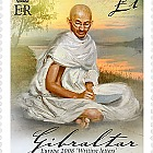 Europa 2008 - Letter writing - Single Value £1.00 - Mahatma Gandhi