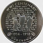 WWI Centenary Stand Alone Coin