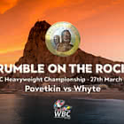 Rumble on the Rock WBC Coloured £2 Coin Card