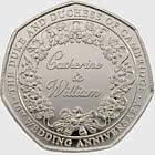 Catherine & William 50p Coin