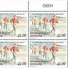 Sports in Greenland II 3/3 Town relay race (Plate Block)