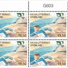 Sports in Greenland II 2/3 Kang-Nu race (Plate Block)