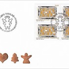 Christmas 2018 - 1/2 - FDC Block of 4