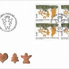 Christmas 2018 - 2/2 - FDC Block of 4