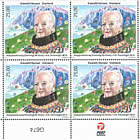 H.M. Queen of Denmark's 80th Birthday - Lower Marginal Block of 4 Mint