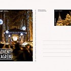 Postkarte Advent in Zagreb