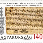 700 Years of paper use in Hungary