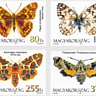 Fauna of Hungary- Moths and Butterflies (Set 4 Stamps)