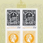 150 Years of Hungarian Stamp Issuance I - (Red-Numbered Imperforated M/S)