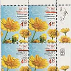 Spring Flowers - (Chrysanthemum Coronarium) - Plate Block