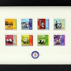Isle of Man International Scooter Rally - (Framed Stamp Set)