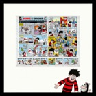 A Beano Christmas on the Isle of Man 2018 - (A Beano Christmas Framed Sheetlet)