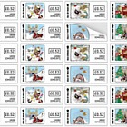 A Beano Christmas Self Adhesive Sheet (Mint)