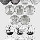 Collection of Isle of Man 50p Coins