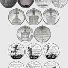 Collection de l'île de Man Cinquante Pièces de Cinq Sous