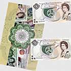 Neuwertiger Zustand £ 10 Isle of Man Banknotensammlung