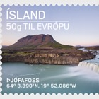 Tourist stamps V. Thjófafoss Waterfall and Jökulsárlón Lagoon